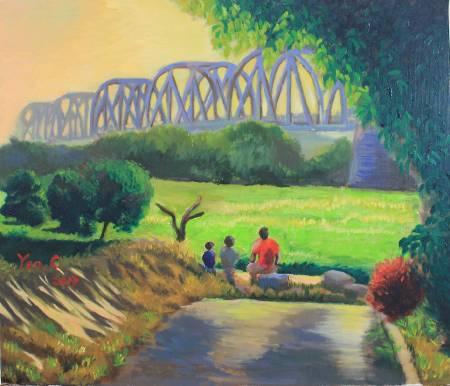 細雨 -午後鐵橋 Kaoping iron railway bridge