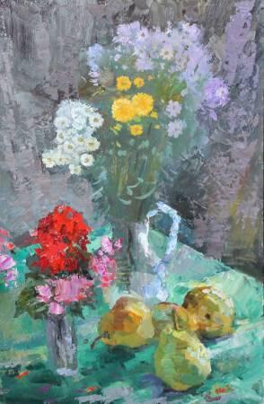 Pavel Veselkin-Autumn still life