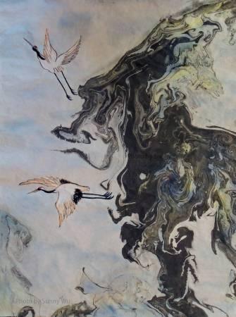 吳秀芳-獸山鶴雙飛