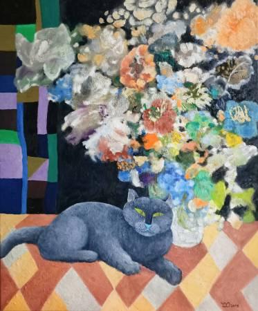 楊玉金-花與貓