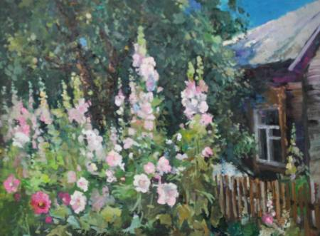 Pavel Veselkin-Flowers at the fence