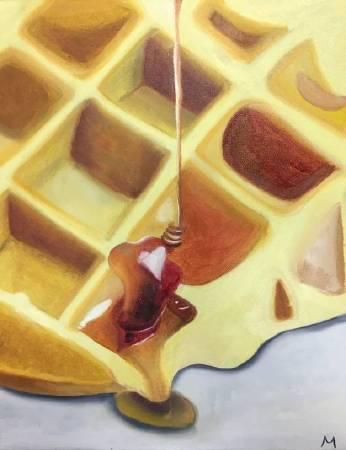 米妮-Waffle with honey