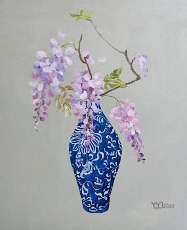 楊玉金-青花瓷瓶花 No. 3