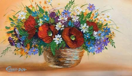 葛拉娜-Bouquet in basket