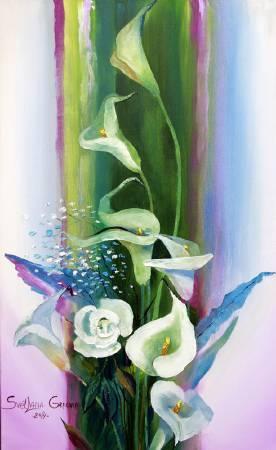 葛拉娜-Bouquet in green