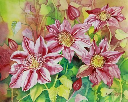 葛拉娜-【冬季暖心久久】Curly flowers (pink)
