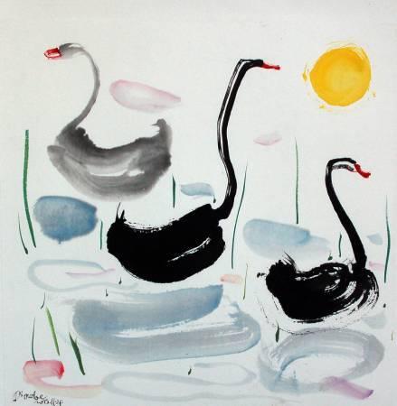 李琨波-三隻天鵝