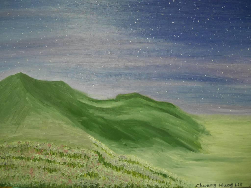 莊鴻麟 - 夜之山景