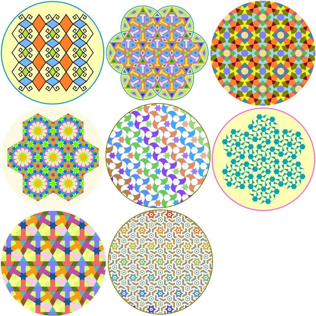 林家齊 - 幾何圖樣陶瓷杯墊 B組 (8入)