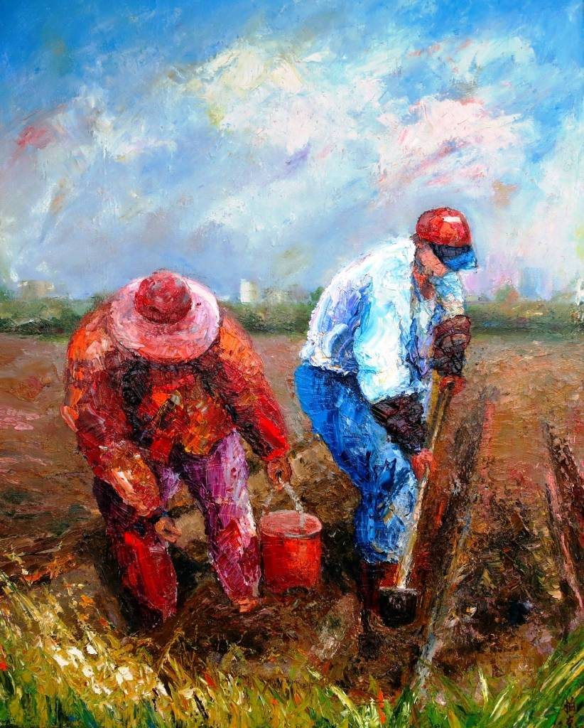 潘柏克(柏克創藝)-春耕 Spring Plowing