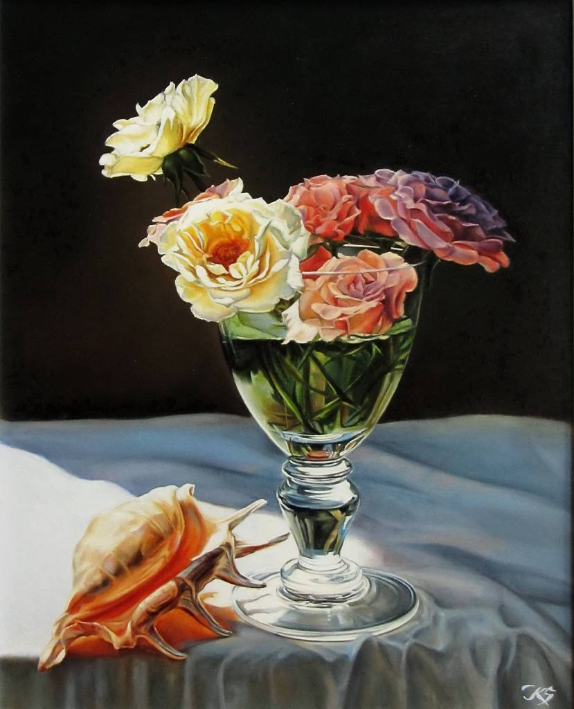 Kuzmin Sergey - Roses and Shell