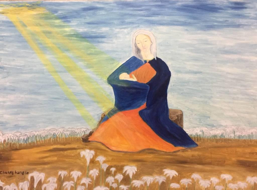 莊鴻麟 - 聖母與聖子