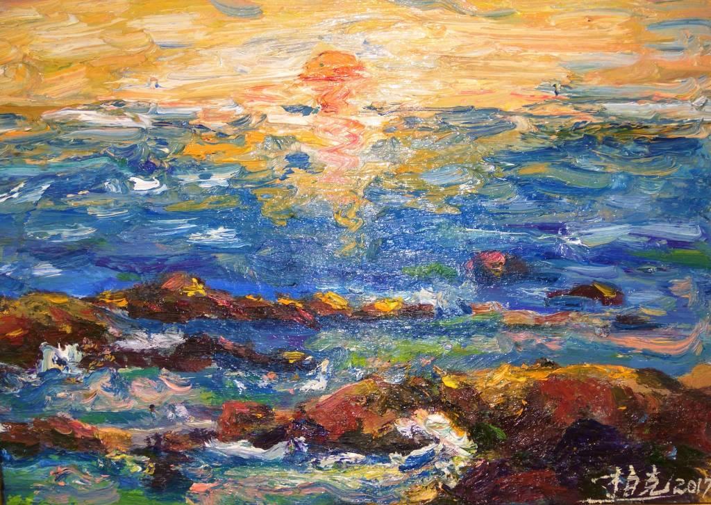 潘柏克(柏克創藝) - 淡水夕照 Tamsui Sunset