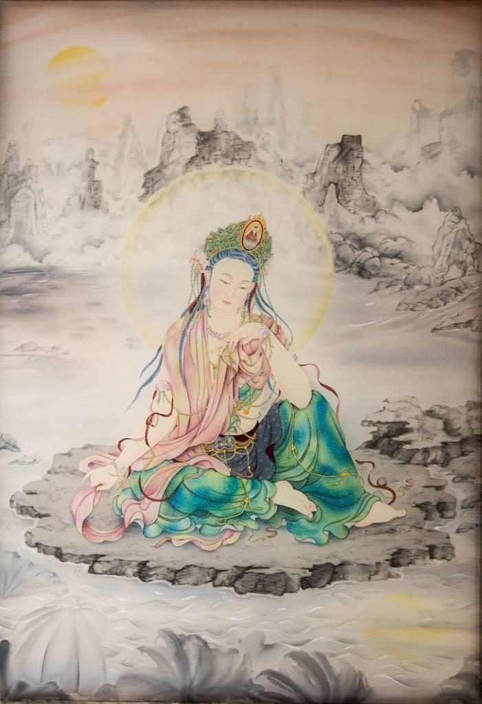 傳意菩提-水月觀音  畫師:張德怡