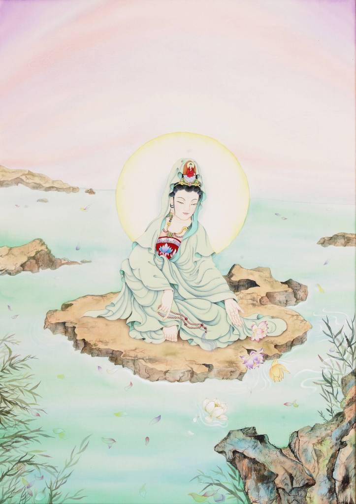 傳意菩提 - 清淨觀音  畫師:迴香