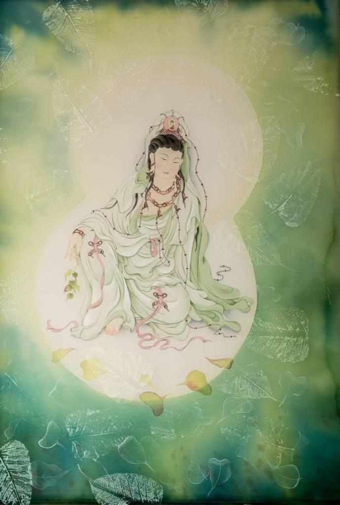 傳意菩提-菩提葉觀音  畫師:張德怡