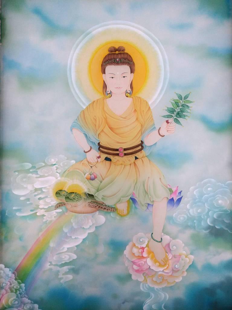 傳意菩提 - 阿逸多菩薩本尊像  畫師:迴香