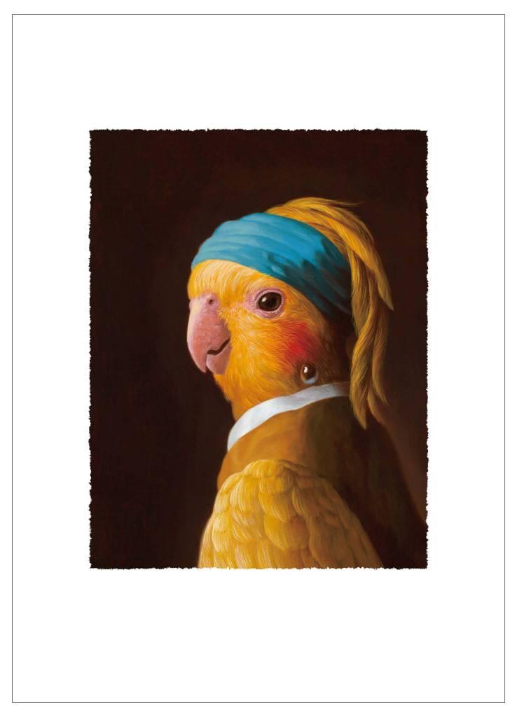 詹喻帆-戴珍珠耳環的鸚鵡少女