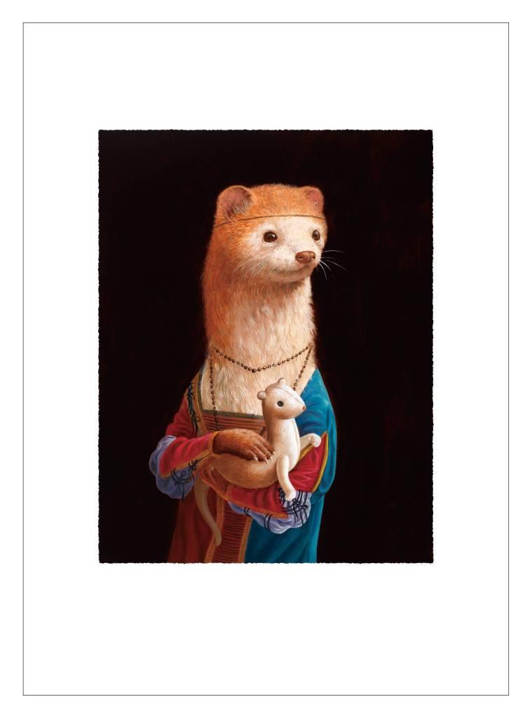 詹喻帆 - 拿著貂娃娃的貂少女