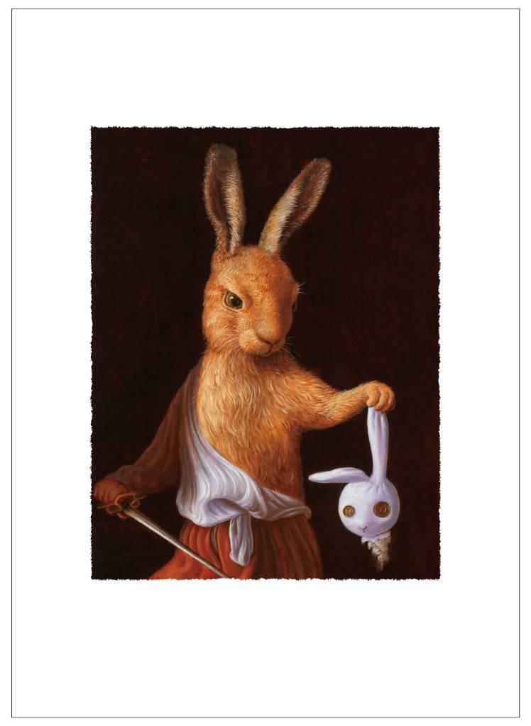 詹喻帆 - 大衛兔拿著玩偶兔的頭
