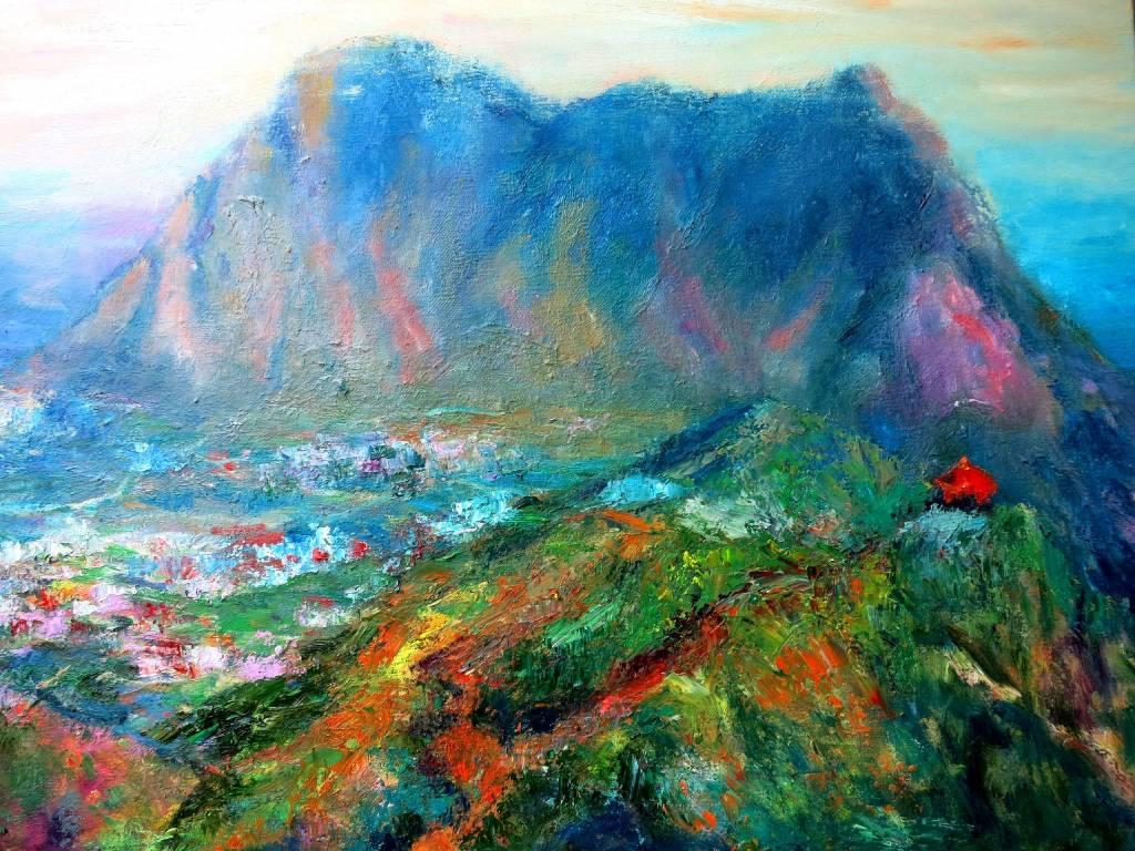 潘柏克(柏克創藝) - 遠眺基隆山 Look Afar to The Keelung Mountain