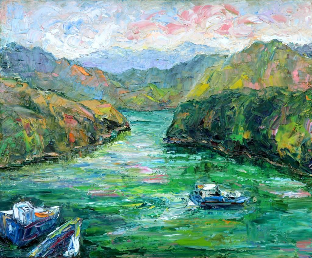 潘柏克(柏克創藝)-水碧山青 Clear Waters and Green Mountains