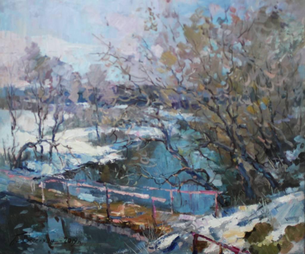 Pavel Veselkin-Bridge in the spring