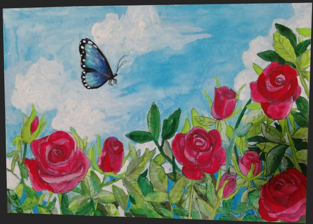 傑克-晴天的玫瑰與蝴蝶