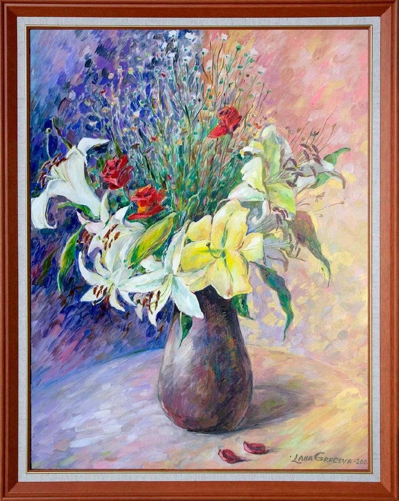 葛拉娜-瓶中的花朵 Flowers in a vase