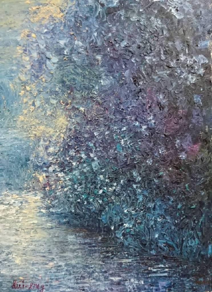 薈伶-向晚的溪邊
