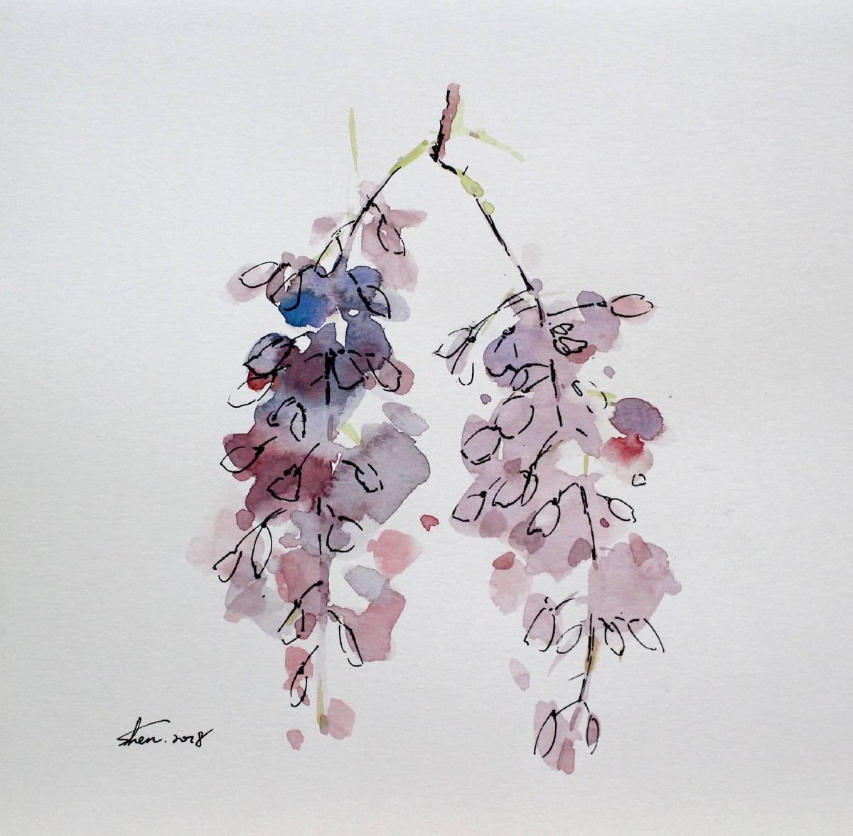 沈鈺華-花肖像 - 紫藤I