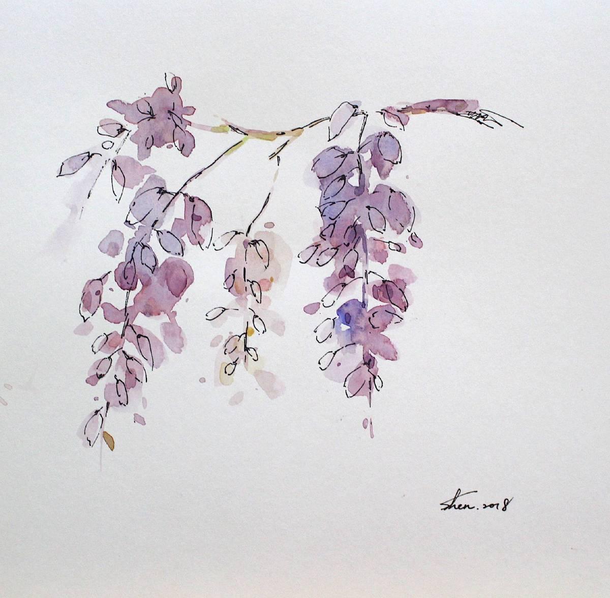 沈鈺華-花肖像-紫藤III