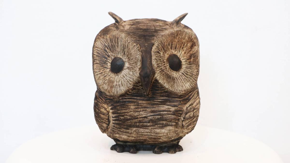 東眼居木雕-小圓鴞